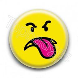 Badge : Smiley méchant jaune