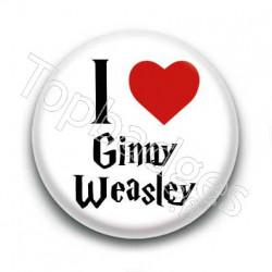 Badge I Love Ginny Weasley
