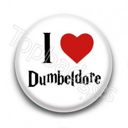 Badge I Love Dumbeldore