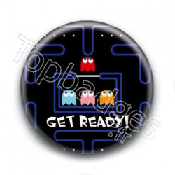 Badge Get Ready Pacman