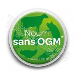 Badge Nourri Sans OGM