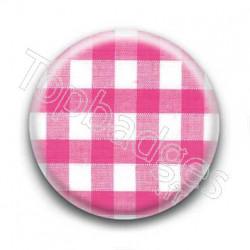 Badge Vichy Rose