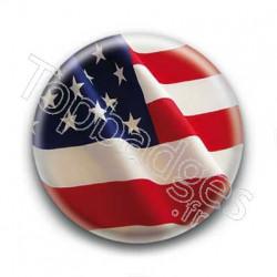 Badge Drapeau USA