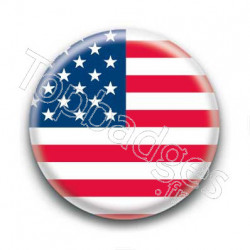 Badge Drapeau Etats-Unis