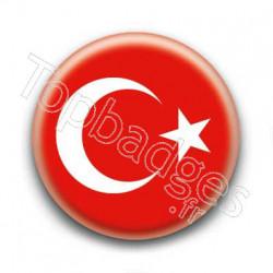 Badge Drapeau Turquie