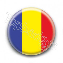 Badge Drapeau Roumanie