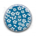 Badge Liberty Fleurs Blanches