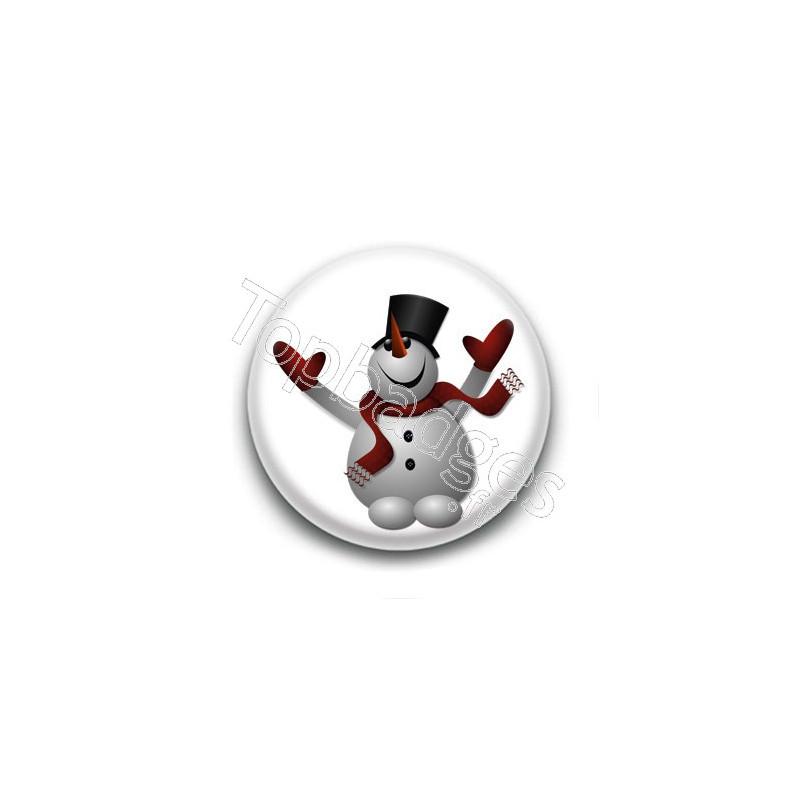 Badge bonhomme de neige chapeau - Chapeau bonhomme de neige ...