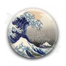 Badge Art Japonais Vagues