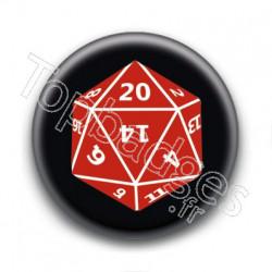 Badge Dé à vingt faces D20