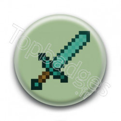 Badge Epée Minecraft