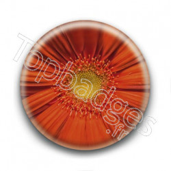 Badge Fleur Orange