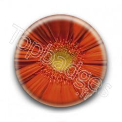 Badge Fleur Orange