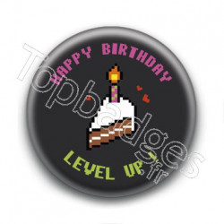 Badge Happy Birthday Level Up