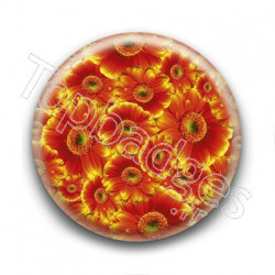 Badge Fleurs Orange