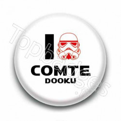 Badge I Love Comte Dooku