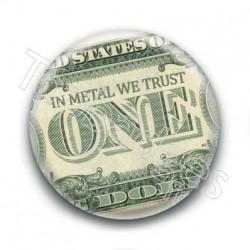 Badge In Metal We Trust Billet