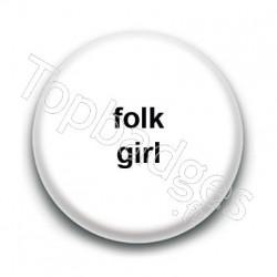 Badge Folk Girl