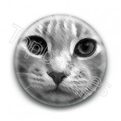 Badge Dessin de chat