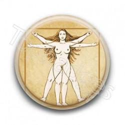 Badge : Femme de Vitruve