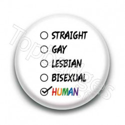 Badge Gay & Human !