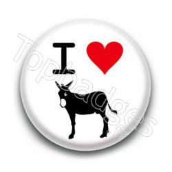 Badge I love l'âne catalan