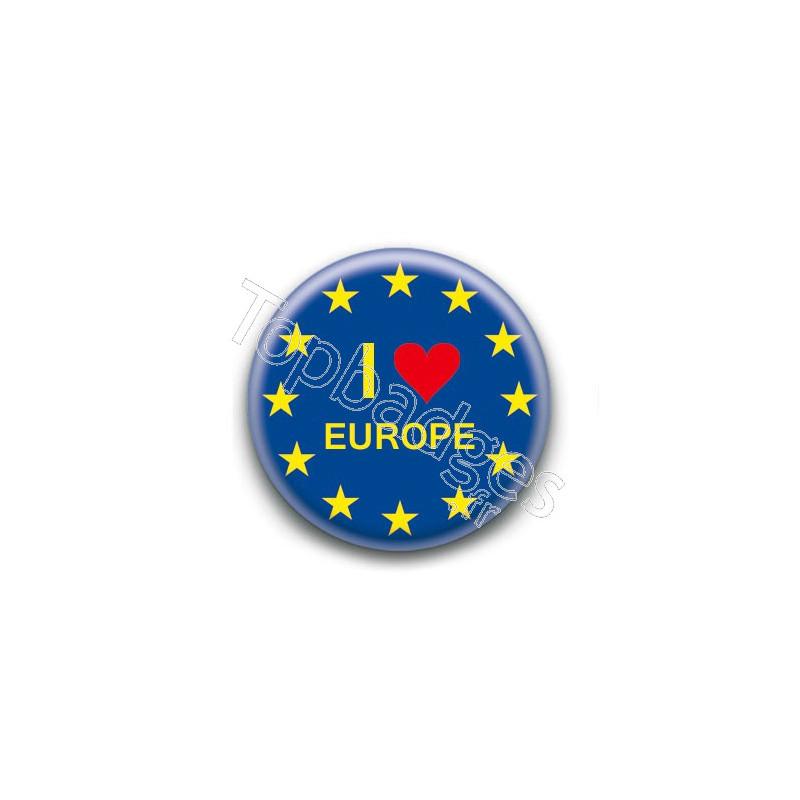 badge i love europe. Black Bedroom Furniture Sets. Home Design Ideas