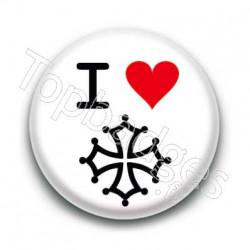 Badge : I love croix Occitane