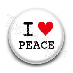 Badge I Love Peace