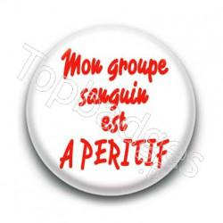 Badge Groupe sanguin A Péritif