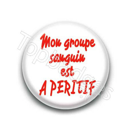 Badge : Groupe sanguin A-péritif