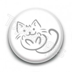 Badge Traits de chat