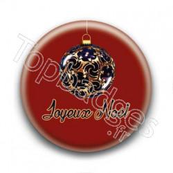 Badge Boules de Noël Joyeux Noël