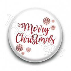 Badge : Merry Christmas, glitter