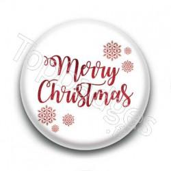 Badge Merry Christmas Glitter