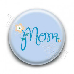 Badge Mom Bleu