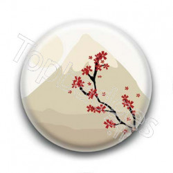 Badge : Mont Fuji, sakura