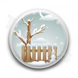 Badge Scène de Noël