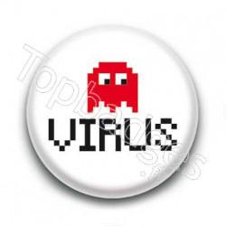 Badge Virus Fantôme Pacman