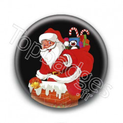 Badge Père Noël Illustré