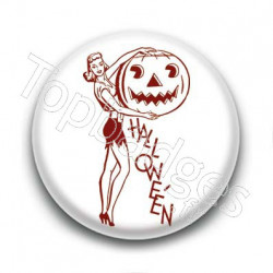 Badge Pin'up Halloween
