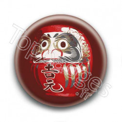 Badge : Daruma japonais