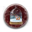 Badge : Boule de Noël, renard
