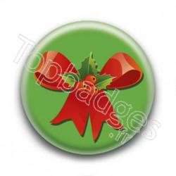 Badge Ruban de Noël