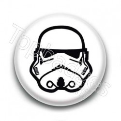 Badge Stormtrooper Fond Blanc