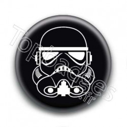 Badge Stormtrooper Fond Noir