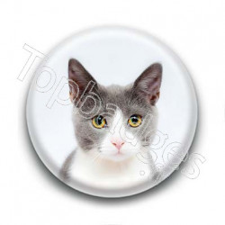 Badge Tête de Chat