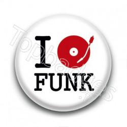 Badge I love Funk