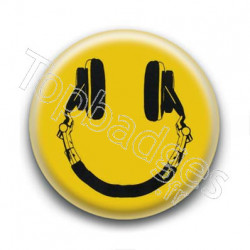 Badge Smiley Casque