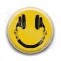 Badge : Smiley casque